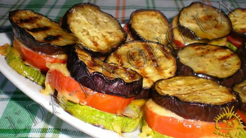 блюда из кабачков и баклажанов вместе в духовке