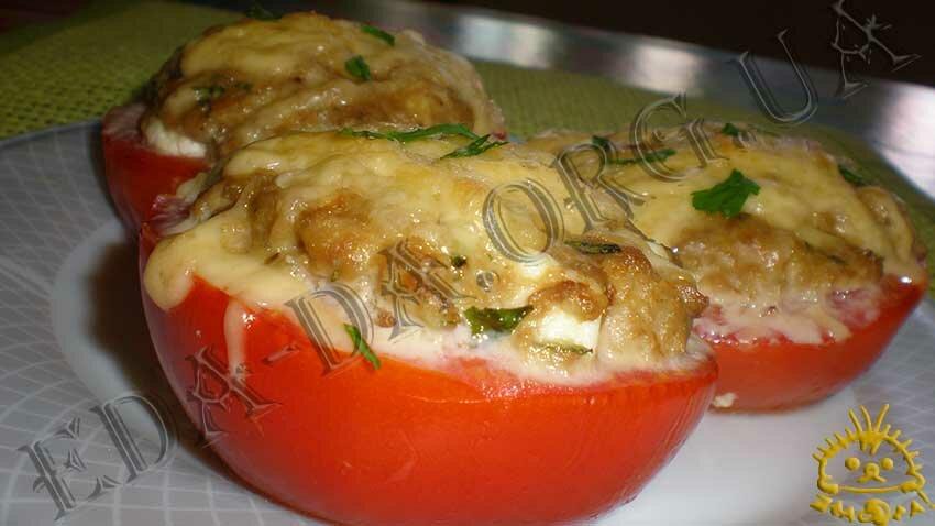 блюда в духовке с овощами и фаршем рецепт