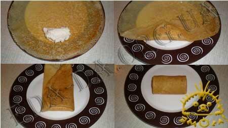 Кулинарные рецепты блюд с фото - Блины Заварные на кефире с творогом, Фото 11