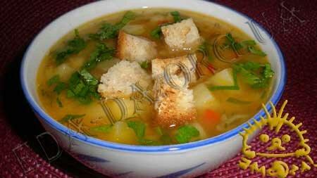 Кулинарные рецепты блюд с фото - Постный гороховый суп. Нажать для увеличения.