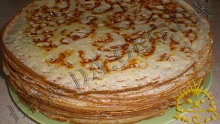 Кулинарные рецепты блюд с фото - Дрожжевые блины, пошаговое фото 12