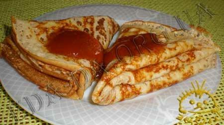 Кулинарные рецепты блюд с фото - Дрожжевые блины. Нажать для увеличения.