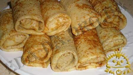Кулинарные рецепты блюд с фото - Блины с яблочной начинкой, пошаговое фото 12