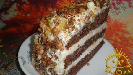 Кулинарные рецепты блюд с фото - Апельсиновый торт с лимонным кремом. Нажать для увеличения.