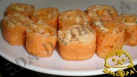 Кулинарные рецепты блюд с фото - Закусочные томатные блинчики с печенью трески, пошаговое фото 15