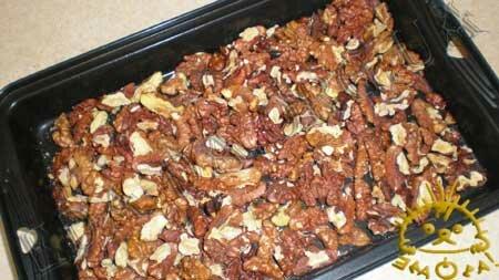 Кулинарные рецепты блюд с фото - Постный пирог с вареньем и грецкими орехами, пошаговое фото 9