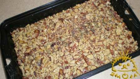 Кулинарные рецепты блюд с фото - Постный пирог с вареньем и грецкими орехами, пошаговое фото 10
