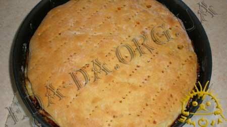 Кулинарные рецепты блюд с фото - Постный пирог с вареньем и грецкими орехами, пошаговое фото 21