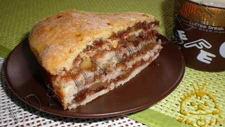 Кулинарные рецепты блюд с фото - Постный пирог с вареньем и грецкими орехами, пошаговое фото 23