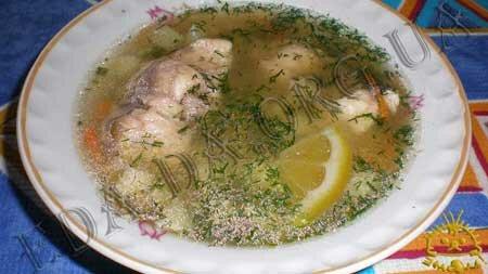 Рыбный суп c перловкой