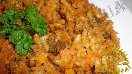 Кулинарные рецепты блюд с фото - Плов с сушеными белыми грибами, пошаговое фото 13