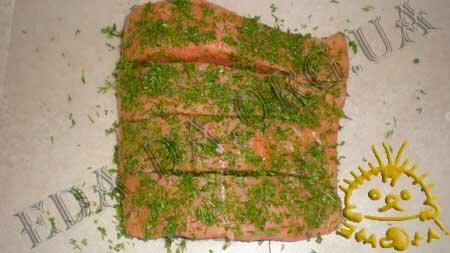 Кулинарные рецепты блюд с фото - Семга в маринаде, запеченная в духовке, пошаговое фото 2.