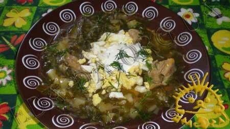 Кулинарные рецепты блюд с фото - Зеленый борщ со щавелем, пошаговое фото 11
