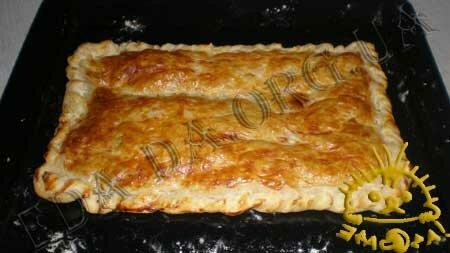 Кулинарные рецепты с фото - Пирог из слоеного теста с сыром и зеленью, Фото 6