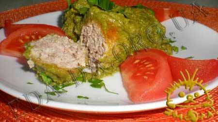Кулинарные рецепты блюд с фото - Тефтели мясные в зеленом соусе. Нажать для увеличения.