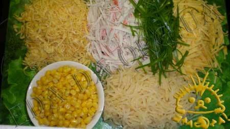 Кулинарный мастер класс - Салат с жареными яйцами, шаг 4