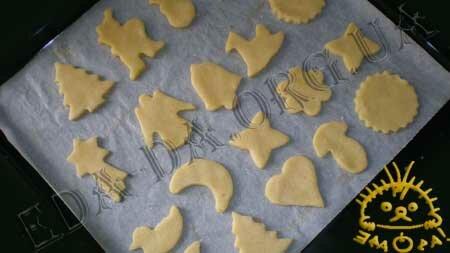 Кулинарные рецепты блюд с фото - Новогоднее песочное печенье, пошаговое фото 7