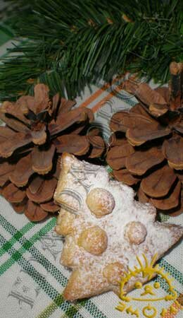 Кулинарные рецепты блюд с фото - Новогоднее песочное печенье. Нажать для увеличения.