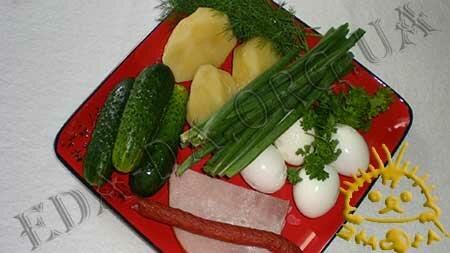 Кулинарный мастер класс - Окрошка. Состав рецепта.