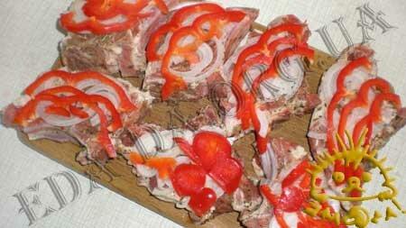 Кулинарные рецепты блюд с фото - Свинина с овощами и сыром, запеченная в рукаве для запекания, пошаговое фото 6