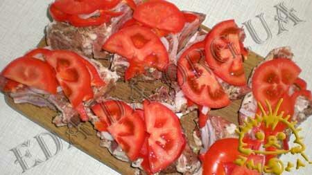 Кулинарные рецепты блюд с фото - Свинина с овощами и сыром, запеченная в рукаве для запекания, пошаговое фото 7