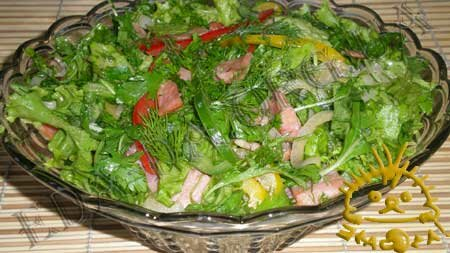 Кулинарные рецепты с фото - Салат с рукколой и грудинкой, Фото 6