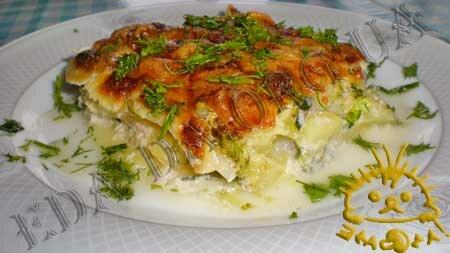 Кулинарные рецепты блюд с фото - Овощная запеканка под соусом Бешамель. Нажать для увеличения.