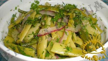 Кулинарные рецепты блюд с фото - Стручковая фасоль для пикника. Нажать для увеличения.