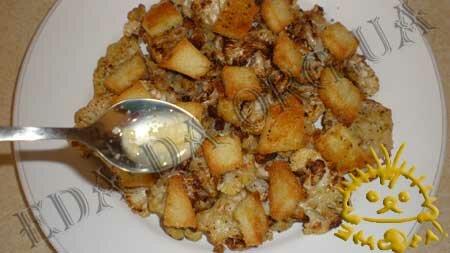 Кулинарные рецепты блюд с фото - Цветная капуста, запеченная в духовке, с сухариками и лимонным соусом, пошаговое фото 12.