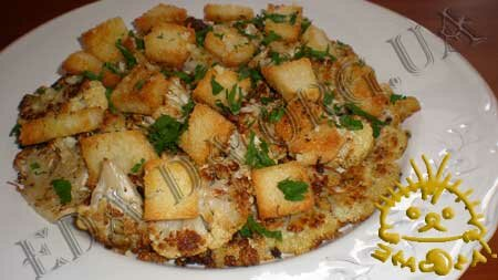 Кулинарные рецепты блюд с фото - Цветная капуста, запеченная в духовке, с сухариками и лимонным соусом, пошаговое фото 13.