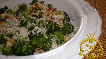 Кулинарный фото рецепт блюда - Салат из брокколи, запеченной в духовке. Нажать для увеличения.