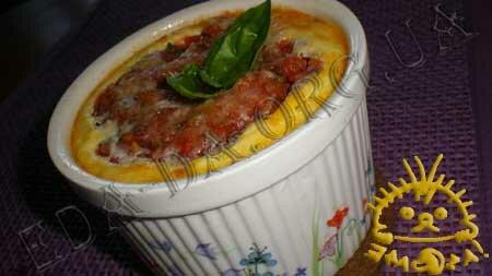 Кулинарные рецепты блюд с фото - Запеканка из филе индейки, овощей и шпината. Нажать для увеличения.