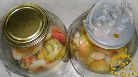 Кулинарные рецепты блюд с фото - Яблочный компот (консервированный), пошаговое фото 5