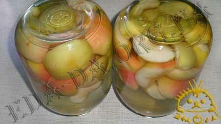 Кулинарные рецепты блюд с фото - Яблочный компот (консервированный), пошаговое фото 7