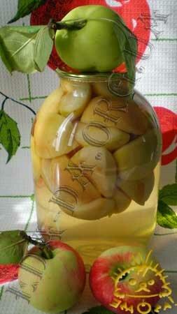 Кулинарные рецепты блюд с фото - Яблочный компот (консервированный). Нажать для увеличения.