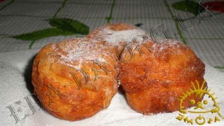 Кулинарные рецепты с фото - Творожные пончики. Нажать для увеличения.