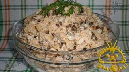 Кулинарные рецепты с фото - Салат с ананасом и черносливом, Фото 3