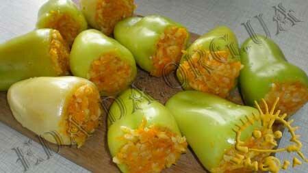 рецепт перец фаршированный капустой и морковью на зиму