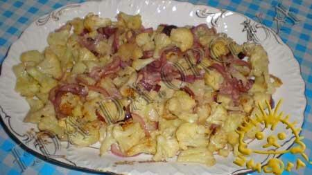 Кулинарные рецепты блюд с фото - Теплый салат с цветной капустой, пошаговое фото 6