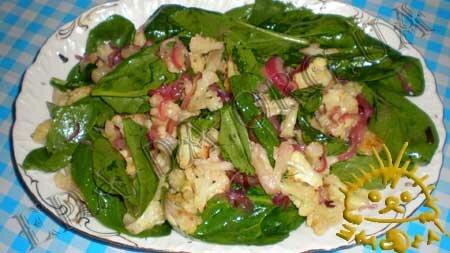 Кулинарные рецепты блюд с фото - Теплый салат с цветной капустой, пошаговое фото 8