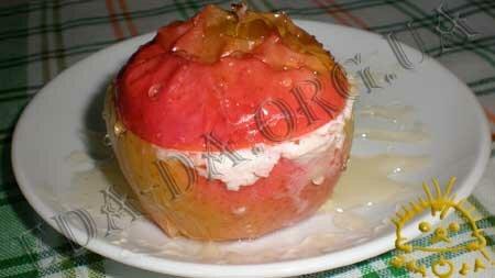 Кулинарные рецепты блюд с фото - Печеные яблоки с творогом, пошаговое фото 8