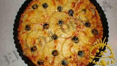 Кулинарные рецепты блюд с фото - Быстрая пицца на кефире с курицей и ананасом, пошаговое фото 11
