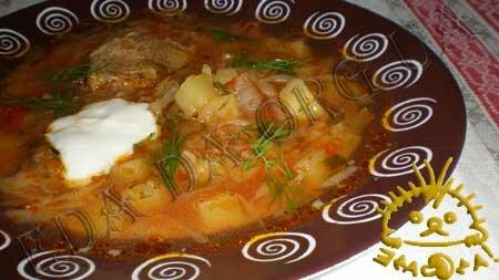 Кулинарные рецепты с фото - Борщ украинский. Нажать для увеличения.