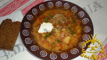Кулинарные рецепты с фото - Борщ украинский, Фото 11