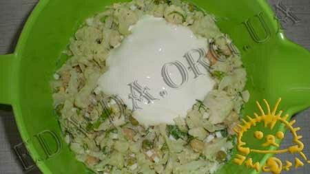 Кулинарный мастер класс - Салат из цветной капусты, зеленого горошка и фасоли, шаг 8