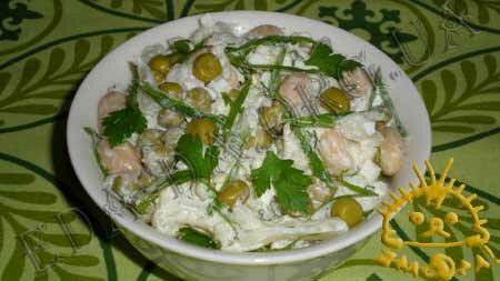Кулинарный мастер класс - Салат из цветной капусты, зеленого горошка и фасоли, шаг 9