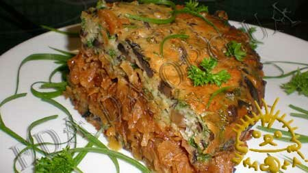 Кулинарные рецепты с фото - Капустный пирог. Нажать для увеличения.