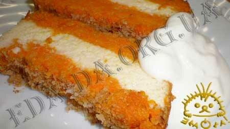 Кулинарный мастер класс - Морковная запеканка с творогом. Нажать для увеличения.