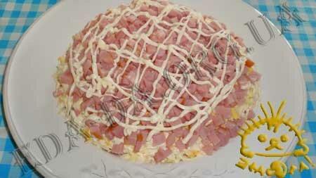 Кулинарные рецепты блюд с фото - Салат Грибная поляна, пошаговое фото 5