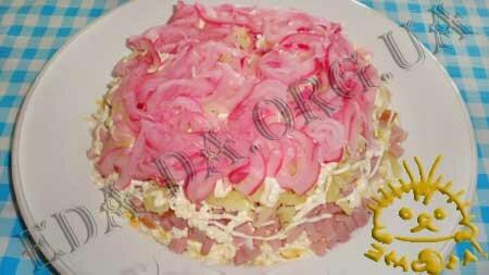 Кулинарные рецепты блюд с фото - Салат Грибная поляна, пошаговое фото 7